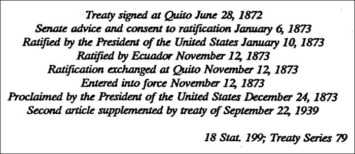 US Extradition Treaty With Ecuador